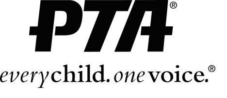 PTA.  Every Child.  Once Voice. Logo.  Black ink