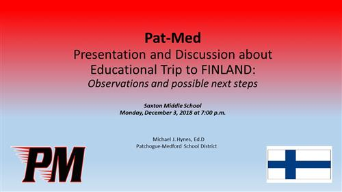 Educational Trip to Finland Presentation and Discussion
