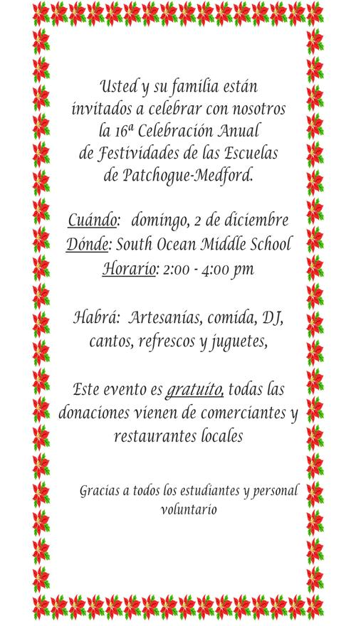 Holiday Celebration - Spanish